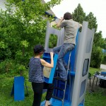 Assembly of the phone booth