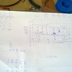 "Wiring ""diagram"" to map the phone keys to the Nanonote keyboard"
