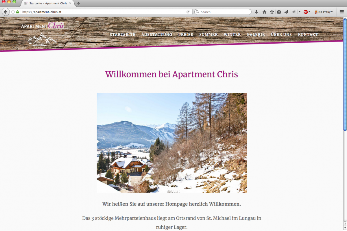 Frontpage Apartment Chris